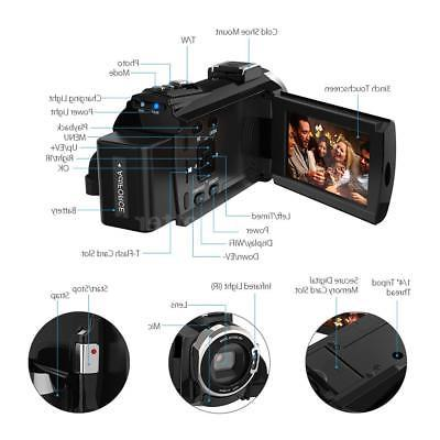 "Andoer 4K WiFi HD 3"" Digital Video Camcorder"