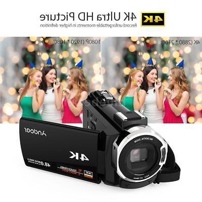 "Andoer 4K HD 1080P 48MP 3"" Digital Video Camera Camcorder"