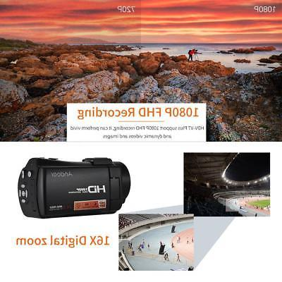 Digital Video Camcorder+Mic+0.45X Angle Lens