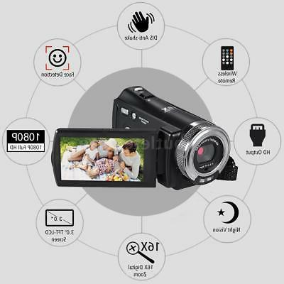 "Andoer HD 16X Recording Video Camcorder 3""LCD"