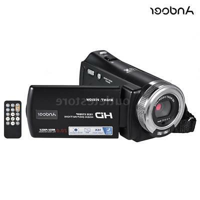 "Andoer HD Digital Recording Video Camera Camcorder 3""LCD"