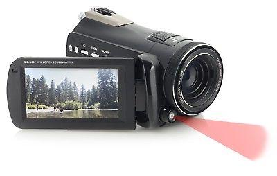 """Bell+Howell DNV24HD-BK Night Vision Camcorder 3"""" Touchscreen"""