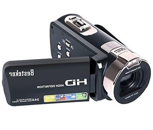 Camera Camcorders Besteker HD 1080P 24 MP 16X Digital Zoom V