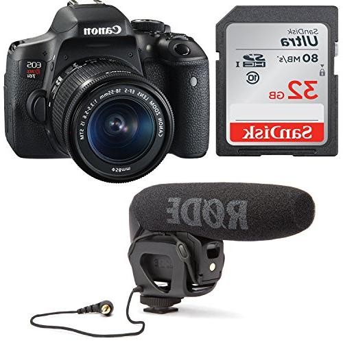 Canon Video Kit 18-55mm Lens, Rode VIDEOMIC GO and Sandisk SD Card - Enabled