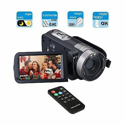 Digital Camcorder, Mengyasi Portable Video Camcorder with IR