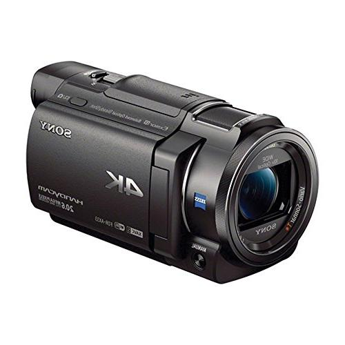 Sony FDRAX33 AX33 HD Recording Handycam Camcorder With High Spare Batteries, Memory Card, Tripod, Deluxe Case, Charger &