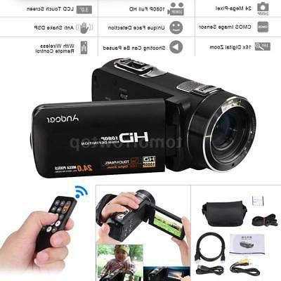 "Ultra HD 1080P 24MP 3.0"" TFT-LCD 16X ZOOM Digital Video Came"
