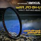 ZOMEI 77mm Ultra Slim HD Circular Polarizer CPL Filter for C