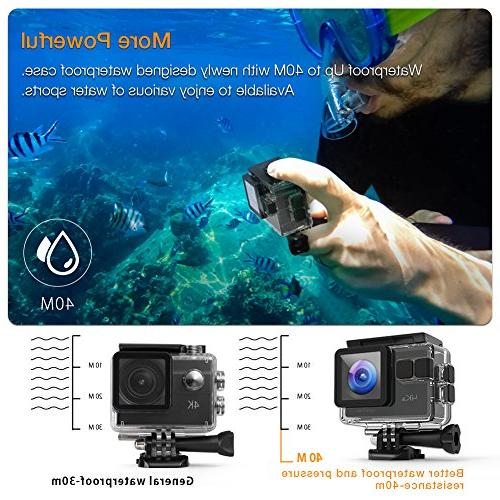 APEMAN Action Camera 4K 20MP WiFi Ultra Underwater Camcorder 170 EIS Upgraded Bag and Accessories