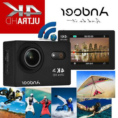 US ANDOER 4K 16MP 4X ZOOM WIFI ACTION SPORT CAMERA 1080P FHD