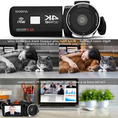 Andoer Ultra WiFi Camera Camcorder DV Recorder Microphone