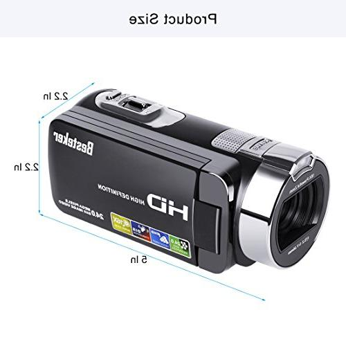 Camera Recorder 24M Digital Zoom Camcorder 2.7 Inch 270 Degree