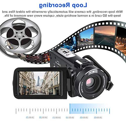 Video YouTube HD 1080P Vlogging Digital 24.0MP Night Vision 16X Microphone Wide