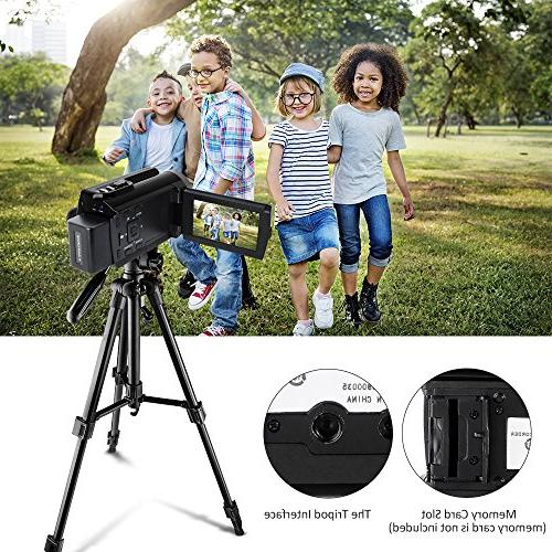 Camera Camcorders HD Video Recorder with and Infrared Night Vision LCD Angle