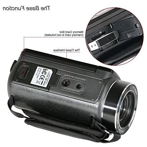 Video WiFi Video Camera Full HD Video Camcorder Video Camera Recorder External and Lens Hood