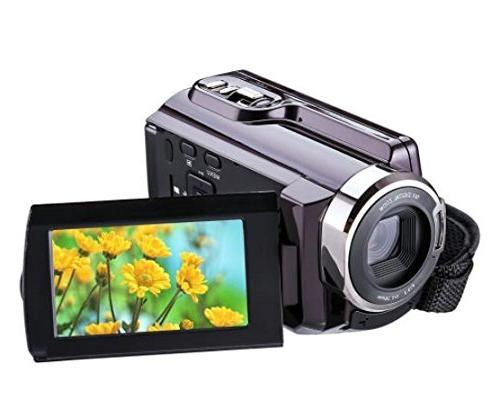 Camcorder with Wifi,KINGEAR 24MP 1080P 3.0 Inch LCD Screen Video Camera for Recording
