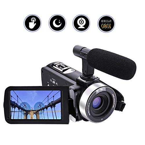 camcorder external microphone recorder night