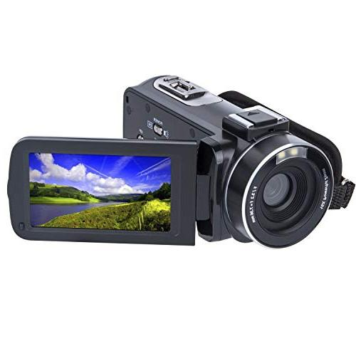 Video Camera Camcorder SOSUN HD 1080P 24 0MP 3 0 Inch LCD 270 Degrees  Rotatable Screen 16X Digital Zoom Camera Recorder and 2 Batteries