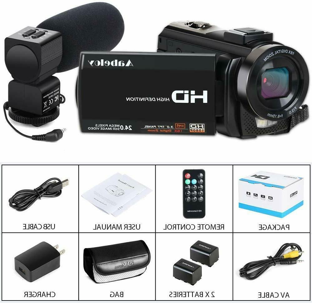 Camcorder Camera YouTube HD 1080P 30FPS