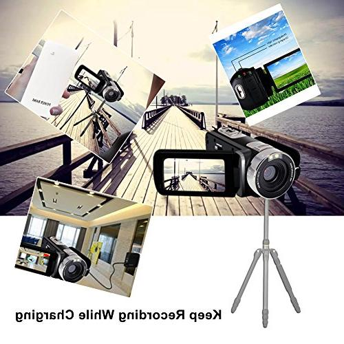Camcorder Webcam Zoom Record Video Function