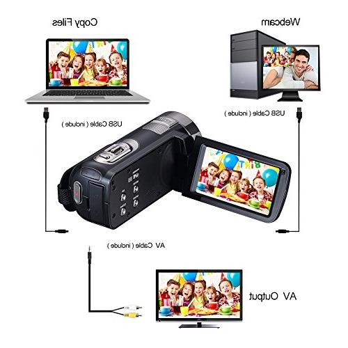 Camcorder Webcam Rotatable Zoom Record Video Function