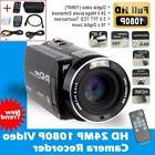 "Camera Camcorder HD 1080P 24MP 16X Digital Zoom 3.0"" LCD 270"