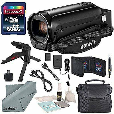 Canon Vixia HF R80 HD Camcorder Bundle with Table Tripod, Ca