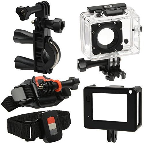 Vivitar DVR914HD Wi-Fi Waterproof Action Video Camera Camcorder Action + + Clamp Arm Backpack