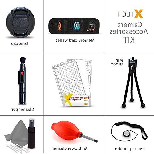 Essential 58mm for T5i T3i T1i XTi XSi, 700D 650D 600D Wide Macro + High 2X Lens + 3 Piece HD from Tulip Hard Lens Hood + Rubber 58mm Lens Universal Card + Memory Holder Screen + Blower + Cleaning + + Cleaning Kit + Ultra HeroFiber Cleaning