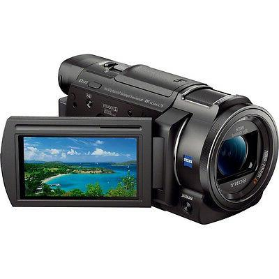 Sony FDR-AX33/B - Camcorder with Microphone Accessory Bundle