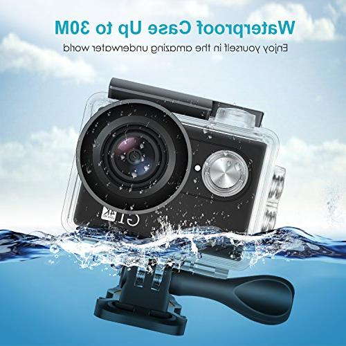 Neewer G1 4K Action Camera Includes Underwater Camera 170 Degree Wide Sports High-tech with 50-in-1 Accessory Kit