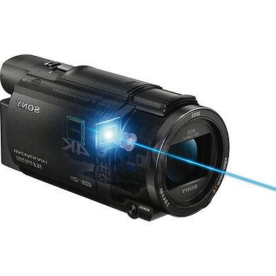 Sony Handycam Digital Camcorder - Touchscreen LCD Exmor R 4K - - 16:9 - Video - XAVC S, AVC, 20x Zoom 250x Digital Zoom - Optical USB Memory