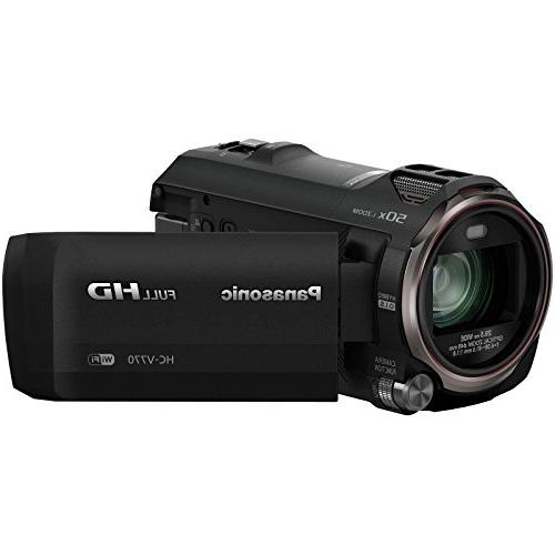 Panasonic Wireless Recording Camera Camcorder 64GB + Battery/Charger + Light + Mic + Stabilizer Kit