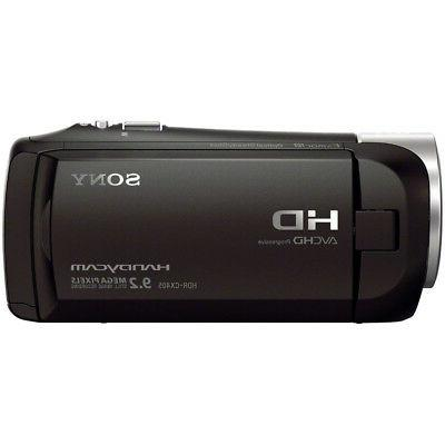 Sony HDR-CX405 Handycam Camcorder Memory Card Battery Bundle
