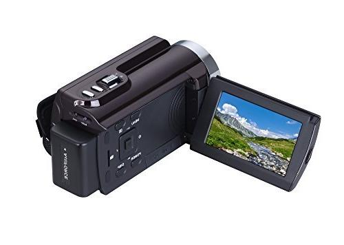 "KINGEAR HDV-5053 24MP 1080P 3.0"" Digital Camcorder Wifi"