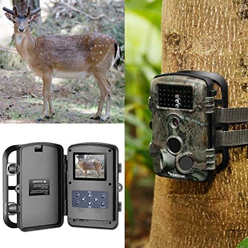 Neewer 2-Pack Hunting Camera Infrared Night Vision, 1080P 2.4 120 Wide