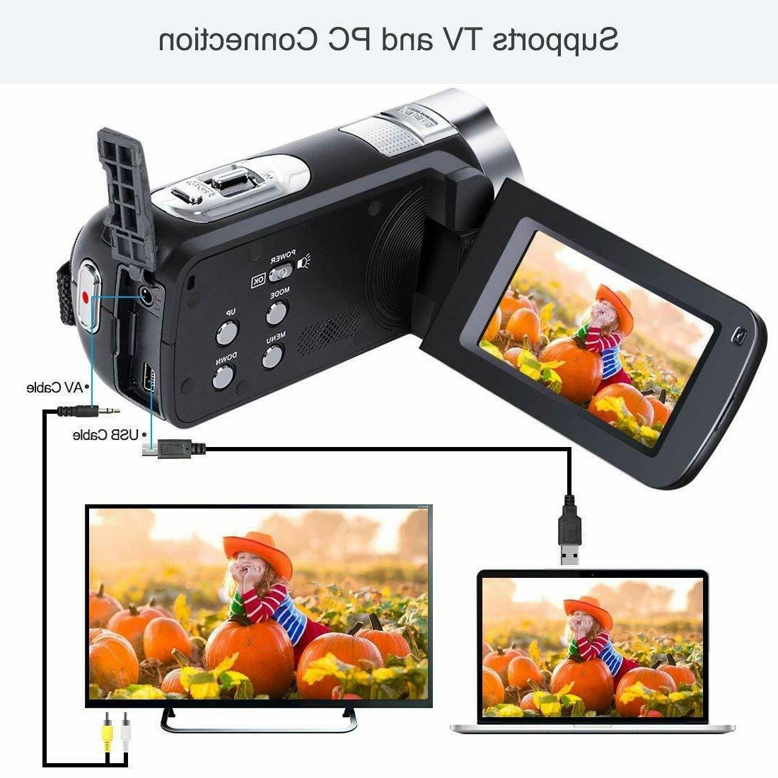 NEW! Besteker HD Camera Camcorder 1080P Control w/infrared 24.0