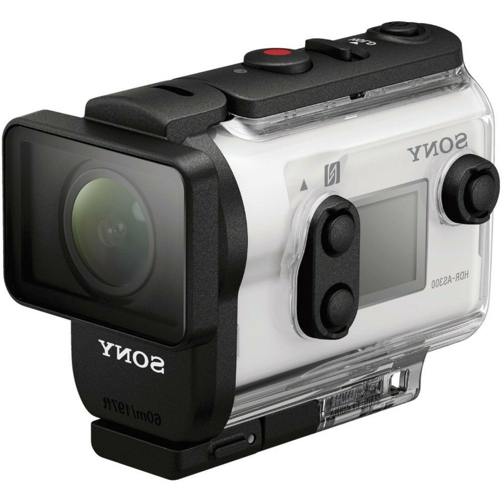 NEW Sony Action Cam HDR-AS300 Wi-Fi HD Waterproof Video Came