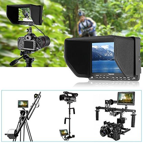 Neewer NW-S7 4K HD Field with HDMI Input Screen Canon Sony Olympus Pentax Panasonic DSLR Camcorder
