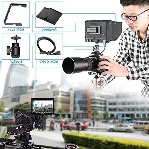 Neewer NW-S7 7 4K HD Field with HDMI Input Output IPS Screen Canon Sony DSLR Camera