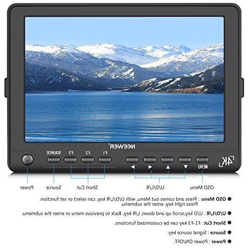 Neewer NW-S7 inches 4K HD with Output Signals 1920X1200 IPS Screen Canon Sony Olympus DSLR
