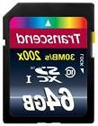 Transcend SD SDXC 64GB Premium 200x Memory Card for Nikon, C