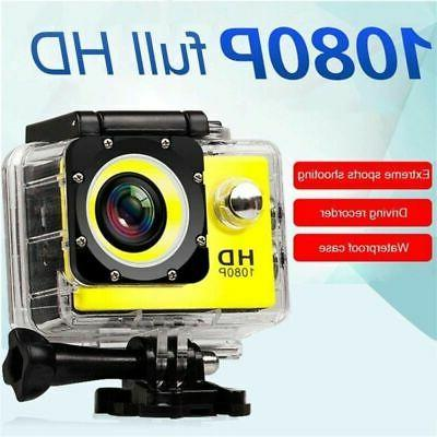 HD Ultra Action Camera Helmet Cam Underwater Camcorder Stock