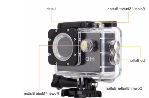 HD 1080P Action DVR Cam Underwater Stock