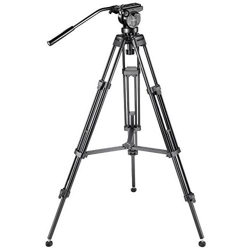 "Neewer 61"" Tripod with 360 Degree Fluid Drag Head,1/4"" 3/8""Q"