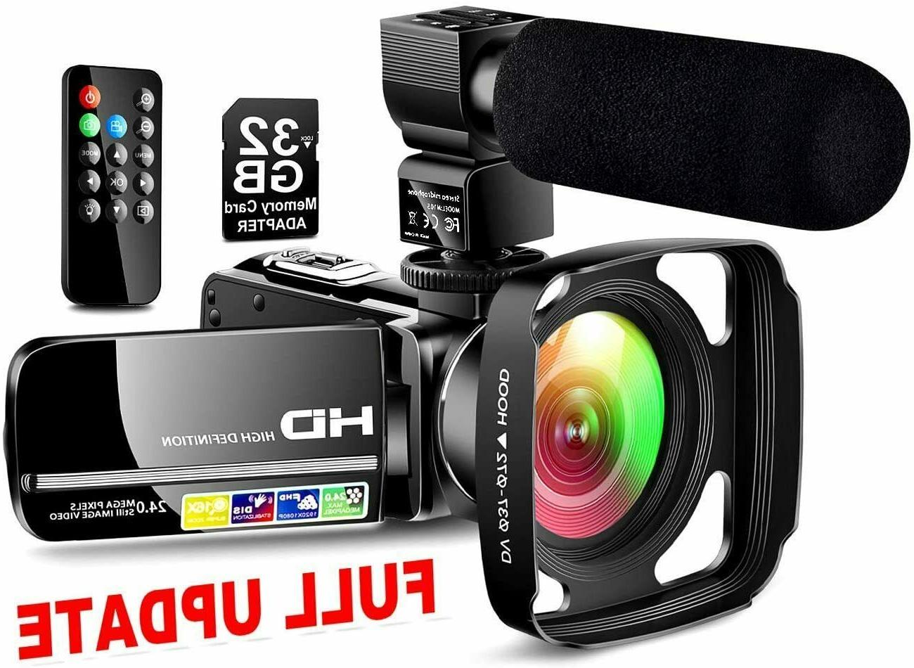 Ultra HD Video Camera Camcorder with Powerful Microphone 108