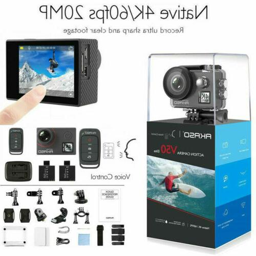 Akaso V50 Elite HD 4K/60fps Action 20MP Touch Control