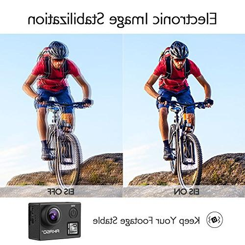 AKASO Native 4K/30fps 20MP Camera with 30m Camera with Remote Control, Wide 2 Batteries Kit