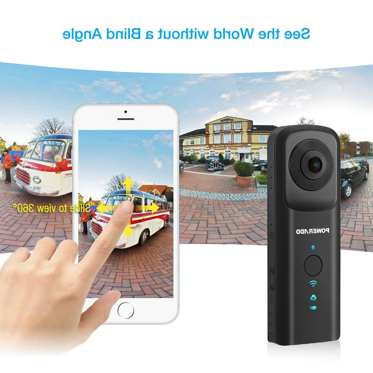 HD 1080P Wi-Fi VR Digital Video Camera 3D 30fps Panoramic Du