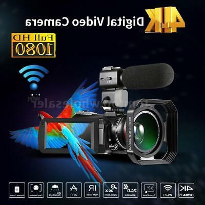 Andoer WiFi 4K ULTRAHD 30X ZOOM IR 0.39X Lens Digital Camera